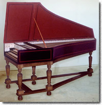 French VXIIth c. double-manual harpsichord