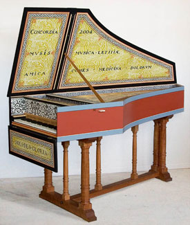 Flemish single-manual harpsichord after Andreas Ruckers, 1640 (restored to original range)