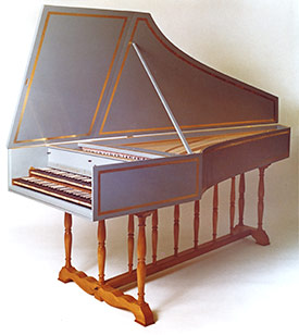 Flemish double-manual harpsichord after Ruckers & Blanchet