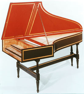 Small German Double Harpsichord